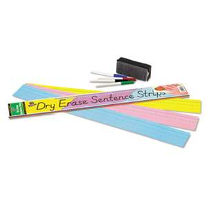 PACON CORPORATION Dry Erase Sentence Strips, 24 x 3, Assorted: Blue/Pink/Yellow, 30/Pack