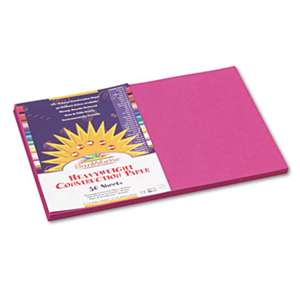 PACON CORPORATION Construction Paper, 58 lbs., 12 x 18, Magenta, 50 Sheets/Pack