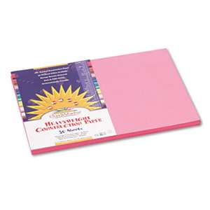 PACON CORPORATION Construction Paper, 58 lbs., 12 x 18, Pink, 50 Sheets/Pack