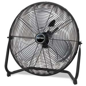 "HOLMES PRODUCTS High Velocity Fan, Three-Speed, Black, 24 1/2""W x 8 5/8""H"