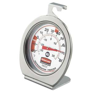 RUBBERMAID COMMERCIAL PROD. Refrigerator/Freezer Monitoring Thermometer, -20øF to 80øF