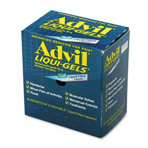 ACME UNITED CORPORATION Liqui-Gels, Two-Pack, 50 Packs/Box