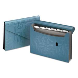 ESSELTE PENDAFLEX CORP. Expanding Poly Files, 7 Pockets, Poly, 1/6 Tab, Letter, Blue