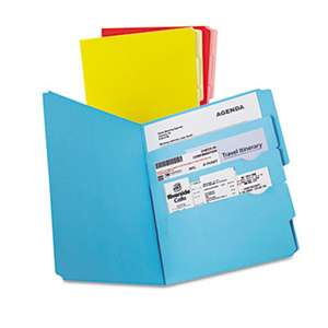 ESSELTE PENDAFLEX CORP. Divide it Up File Folder, Multi Section, 1/2 Cut Tab, Letter, Assorted, 12/Pack