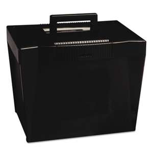 ESSELTE PENDAFLEX CORP. Portable File Storage Box, Letter, Plastic, 13 1/2 x 10 1/4 x 10 7/8, Black