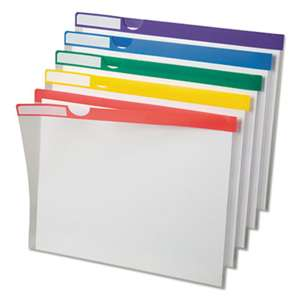 ESSELTE PENDAFLEX CORP. Clear Poly Index Folders, Letter, Assorted Colors, 10/Pack