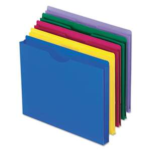 ESSELTE PENDAFLEX CORP. Expanding File Jackets, Letter, Poly, Blue/Green/Purple/Red/Yellow, 10/Pack
