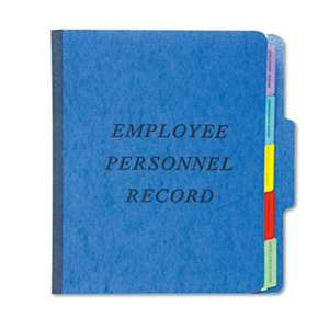 ESSELTE PENDAFLEX CORP. Personnel Folders, 1/3 Cut Top Tab, Letter, Blue