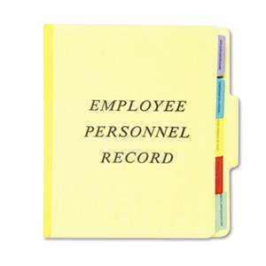 ESSELTE PENDAFLEX CORP. Personnel Folders, 1/3 Cut Top Tab, Letter, Yellow