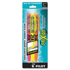 PILOT CORP. OF AMERICA Frixion Lite Erasable Highlighter, Assorted Ink, Chisel, 3/Pack