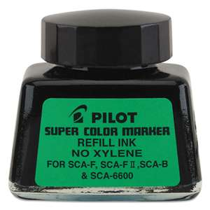 PILOT CORP. OF AMERICA Jumbo Marker Refill Ink, For Permanent Markers, 1 oz Ink Bottle, Black