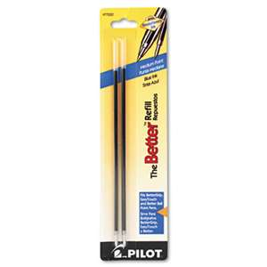 PILOT CORP. OF AMERICA Refill, Non-retract Better/BetterGrip/EasyTouch Ballpoint, Med, Blue, 2/Pack