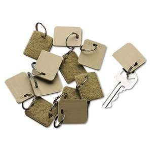 PM COMPANY Extra Blank Velcro Tags, Velcro Security-Backed, 1 1/8 x 1, Beige, 12/Pack