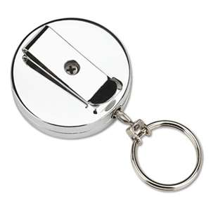 PM COMPANY Pull Key Reel Wearable Key Organizer, Stainless Steel