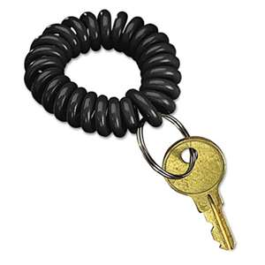 PM COMPANY Wrist Key Coil Wearable Key Organizer, Flexible Coil, Black