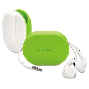 PARIS BUSINESS PRODUCTS Flex Earbud Wrap, Lime Green