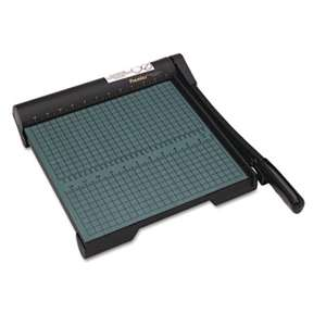 "PREMIER MARTIN YALE The Original Green Paper Trimmer, 20 Sheets, Wood Base, 12 1/2""x 12"""