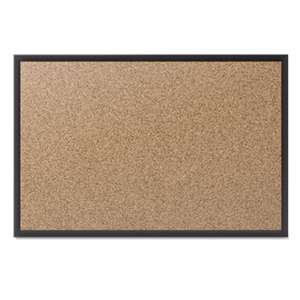 QUARTET MFG. Classic Cork Bulletin Board, 60x36, Black Aluminum Frame