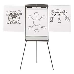 QUARTET MFG. Magnetic Dry Erase Easel, 27 x 35, White Surface, Graphite Frame