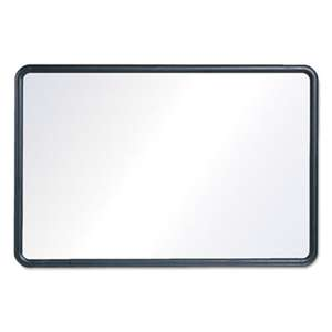 QUARTET MFG. Contour Dry-Erase Board, Melamine, 24 x 18, White Surface, Black Frame