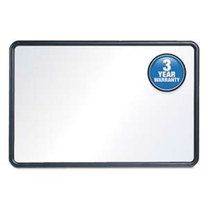 QUARTET MFG. Contour Dry-Erase Board, Melamine, 48 x 36, White Surface, Black Frame