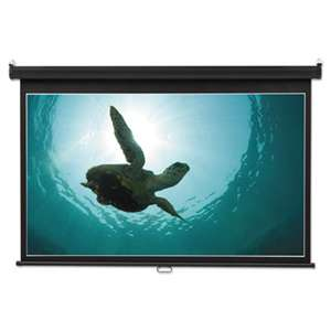 QUARTET MFG. Wide Format Wall Mount Projection Screen, 65 x 116, White