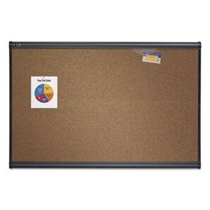 QUARTET MFG. Prestige Bulletin Board, Brown Graphite-Blend Surface, 36 x 24, Aluminum Frame