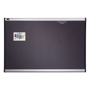 QUARTET MFG. Prestige Bulletin Board, Diamond Mesh Fabric, 36 x 24, Gray/Aluminum Frame