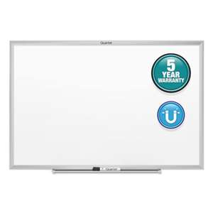 QUARTET MFG. Classic Magnetic Whiteboard, 36 x 24, Silver Frame