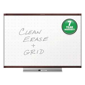 QUARTET MFG. Prestige 2 Total Erase Whiteboard, 36 x 24, Mahogany Color Frame