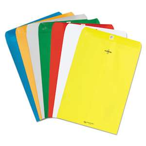 QUALITY PARK PRODUCTS Fashion Color Clasp Envelope, 9 x 12, 28lb, Blue, 10/Pack