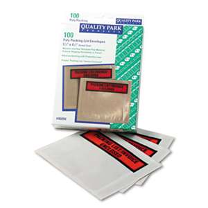 "QUALITY PARK PRODUCTS Top-Print Self-Adhesive Packing List Envelope, 5 1/2"" x 4 1/2"", 100/Box"