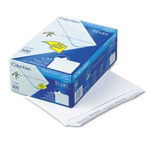 WESTVACO Greeting Card Envelope, Grip-Seal, #A9, White, 100/Box