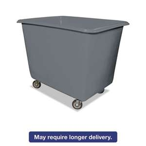 ROYAL BASKET TRUCKS 12 Bushel Poly Truck w/Galvanized Steel Base, 30 x 40 x 33, 800 lbs. Cap., Gray