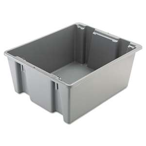 RUBBERMAID COMMERCIAL PROD. Palletote Box, 19gal, Gray