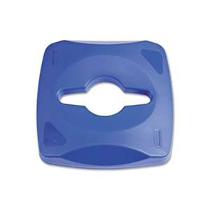 RUBBERMAID COMMERCIAL PROD. Untouchable Single Stream Recycling Top, Blue