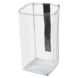 RUBBERMAID COMMERCIAL PROD. Executive Quick Cart Plastic Pocket Liner, Small, 4 x 3 4/5 x 8 1/2, Clear