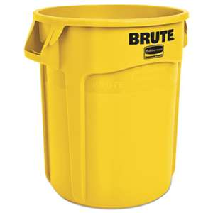 RUBBERMAID COMMERCIAL PROD. Round Brute Container, Plastic, 20 gal, Yellow