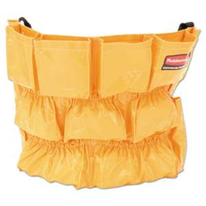 RUBBERMAID COMMERCIAL PROD. Brute Caddy Bag, 12 Pockets, Yellow