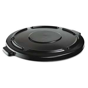 Rubbermaid Commercial 264560BLA Vented Round Brute Lid, 24 1/2 x 1 1/2, Black