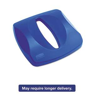 RUBBERMAID COMMERCIAL PROD. Untouchable Recycling Tops, 16 x 3 1/4, Blue
