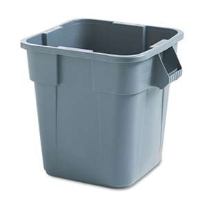 RUBBERMAID COMMERCIAL PROD. Brute Container, Square, Polyethylene, 28gal, Gray
