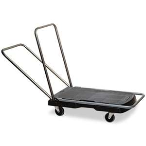 "RUBBERMAID COMMERCIAL PROD. Utility-Duty Home/Office Cart, 250 lb Capacity, 20 1/2"" x 32 1/2"" Platform, BK"
