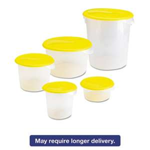 Rubbermaid Commercial 572024CLE Round Storage Containers, 2qt, 8 1/2dia x 4h, Clear
