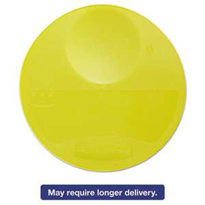 RUBBERMAID COMMERCIAL PROD. Round Storage Container Lids, 10 1/4 dia x 1h, Yellow
