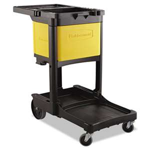 RUBBERMAID COMMERCIAL PROD. Locking Cabinet, For Rubbermaid Commercial Cleaning Carts, Yellow