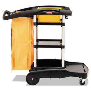 RUBBERMAID COMMERCIAL PROD. High Capacity Cleaning Cart, 21-3/4w x 49-3/4d x 38-3/8h, Black