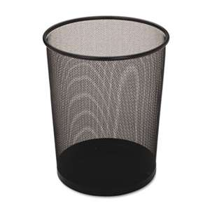 Rubbermaid Commercial WMB20BK Steel Mesh Wastebasket, Round, 5gal, Black