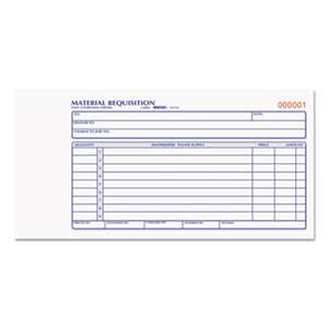 REDIFORM OFFICE PRODUCTS Material Requisition Book, 7 7/8 x 4 1/4, Two-Part Carbonless, 50-Set Book