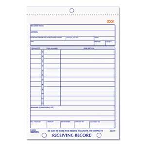 REDIFORM OFFICE PRODUCTS Receiving Record Book, 5 9/16 x 7 15/16, Two-Part Carbonless, 50 Sets/Book